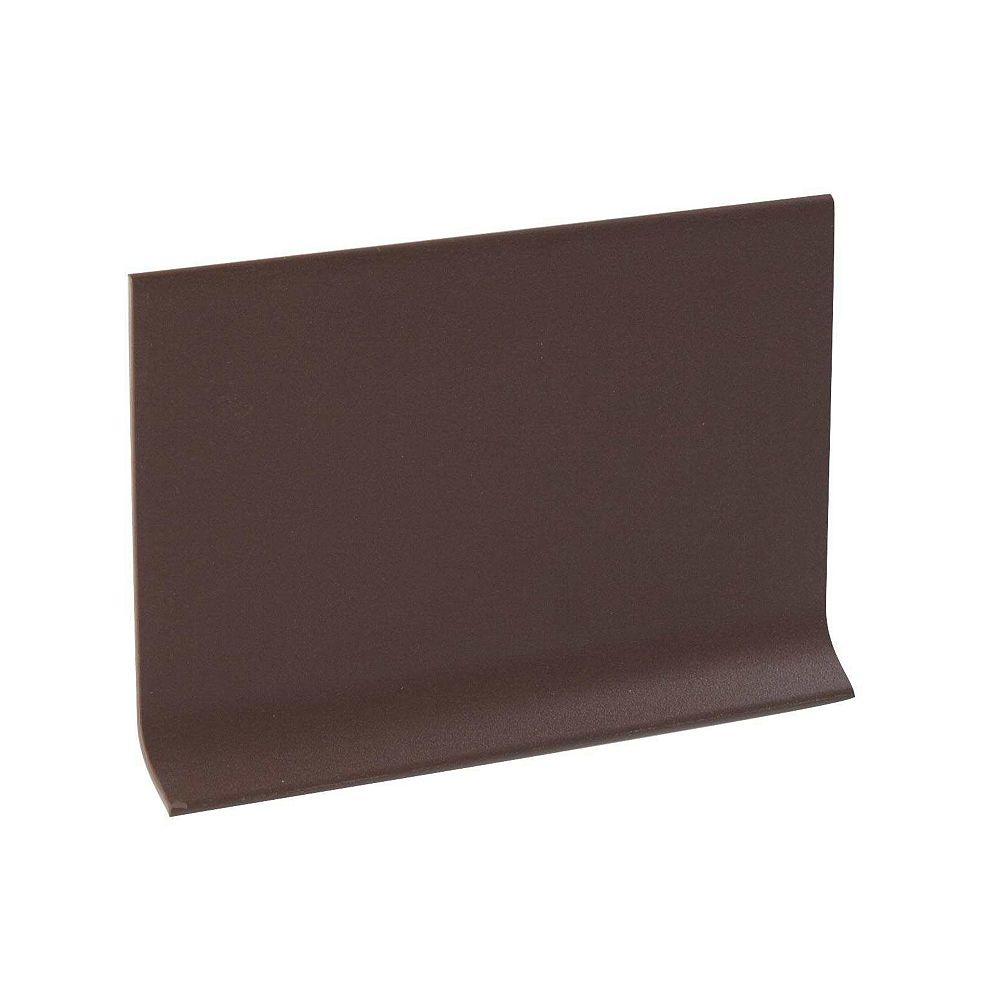 Shur Trim 4 inch Rubber Wall Base- 100Ft Rolls - Brown