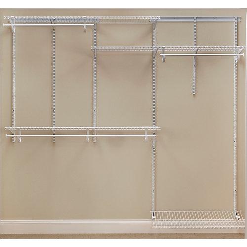 6-8 ft ShelfTrack Organizer Kit- White