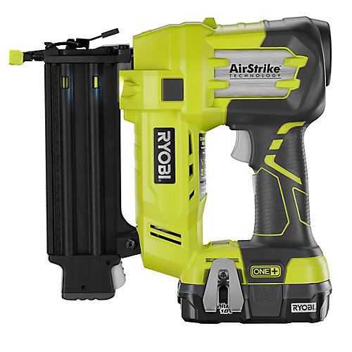 18V ONE+ Cordless AirStrike 18-Gauge Brad Nailer Kit with 1.3Ah Battery & Charger