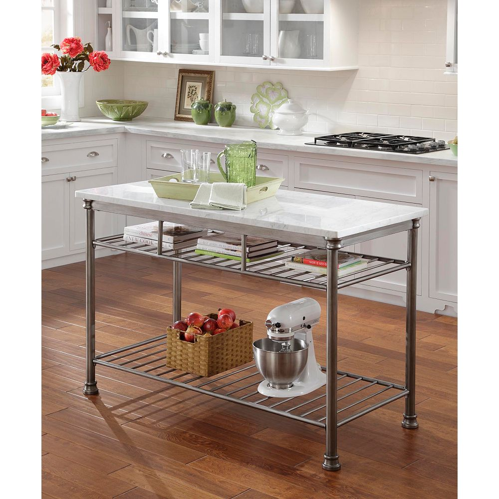 Home Styles Orleans Grey Kitchen Utility Table