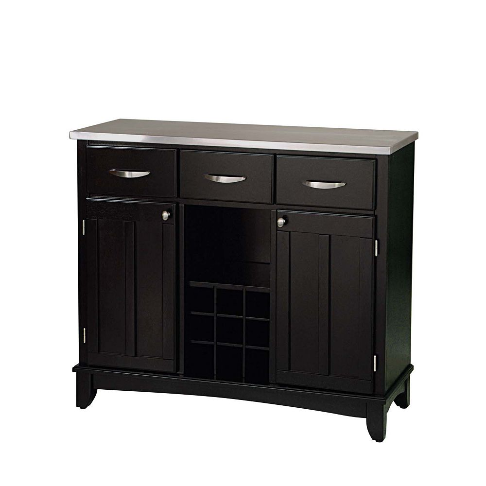 Home Styles Large Buffet of Buffet with Stainless Top