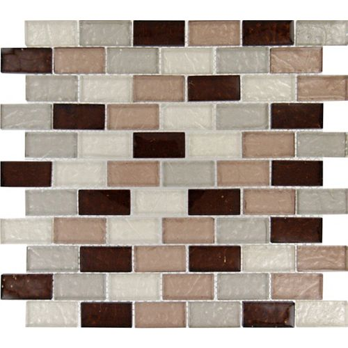 MSI Stone ULC Ayres Blend 12-inch x 12-inch x 8 mm Glass Mesh-Mounted Mosaic Tile