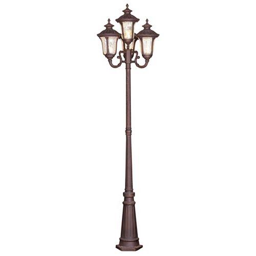 pilier monture lumière avec abat-jour de spécialité couleur en bronze