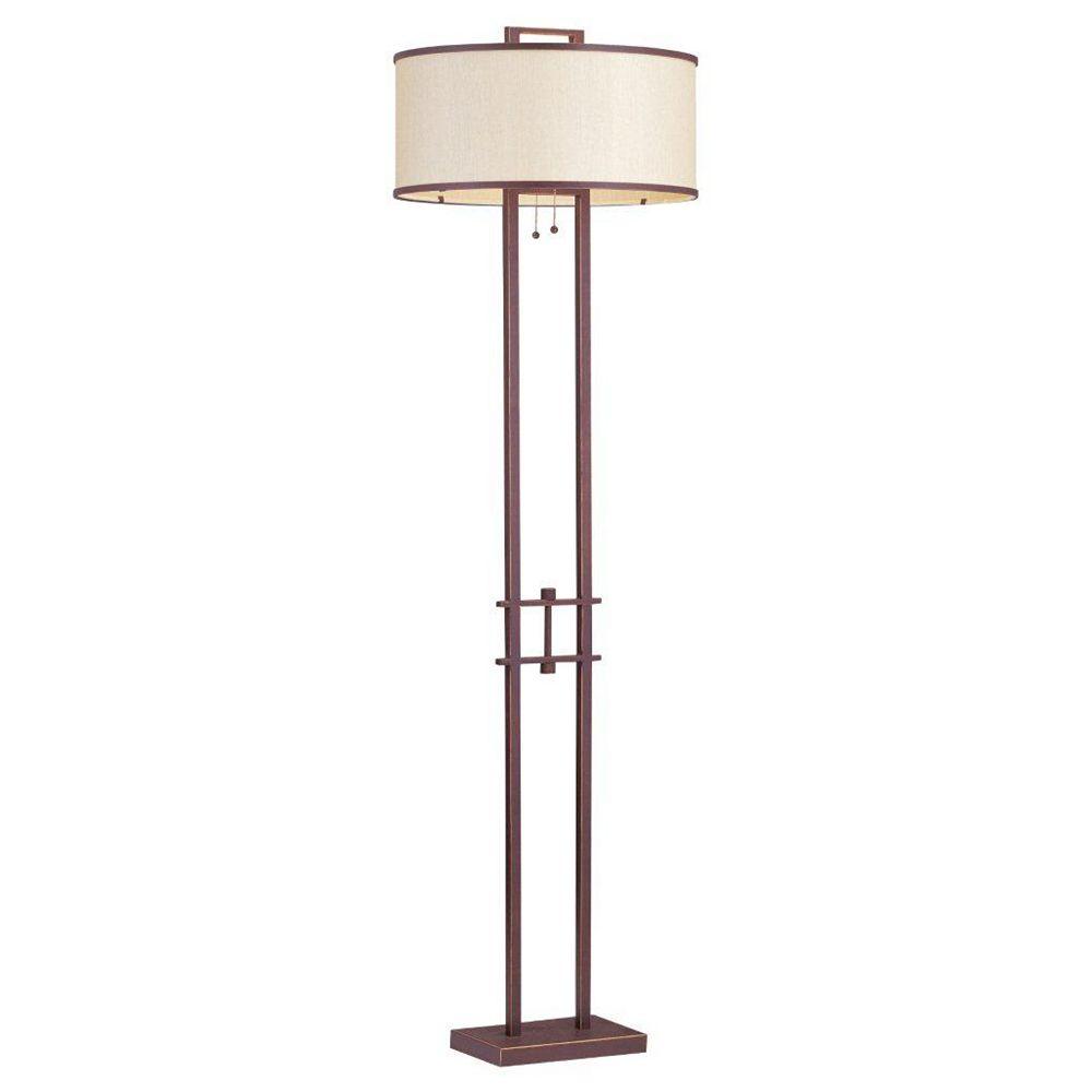 Illumine lampe avec abat-jour de spécialité couleur en bronze
