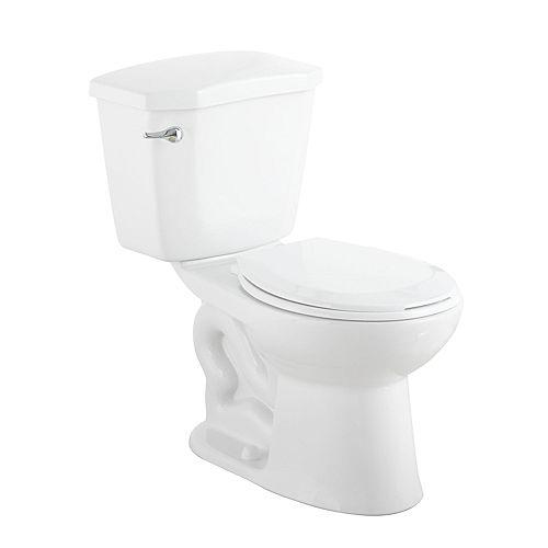 HET Premier 2-Piece 1.28 GPF Single Flush Round Bowl Toilet in White