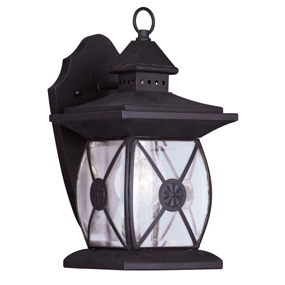Illumine Providence 1 Light Dark Bronze Incandescent Wall Lantern with Clear Beveled Glass
