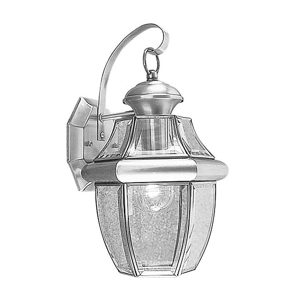 Illumine Providence 1 Light Brushed Nickel Incandescent Wall Lantern with Clear Beveled Glass