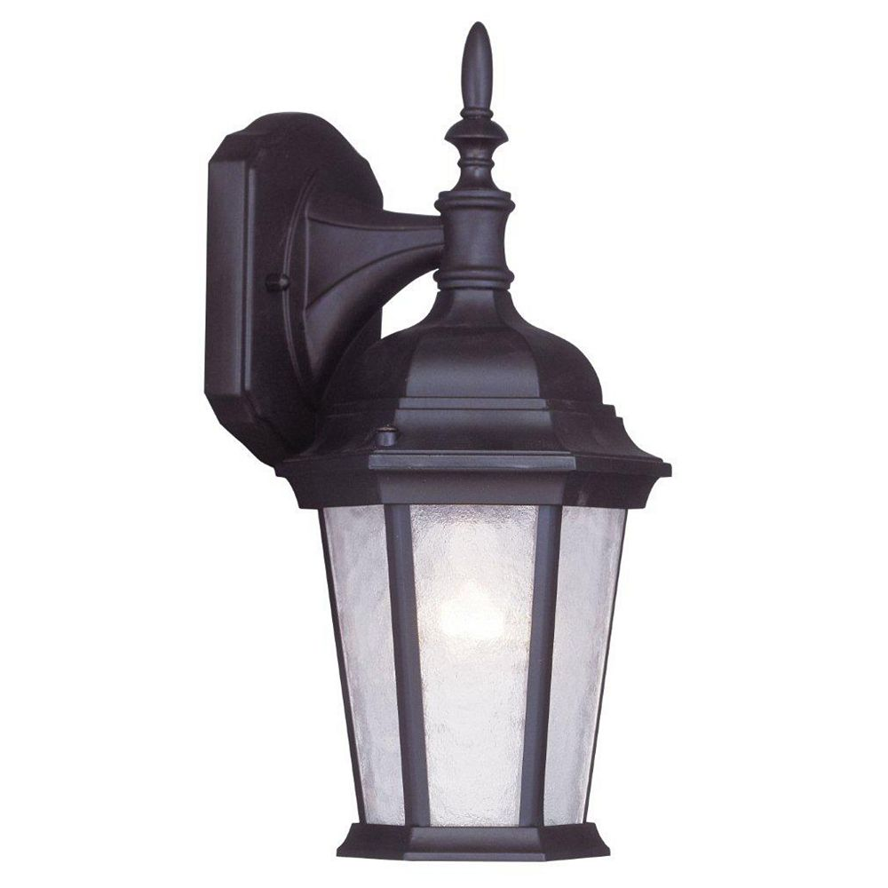 Illumine Providence 1 Light Bronze Incandescent Wall Lantern with Clear Water Glass