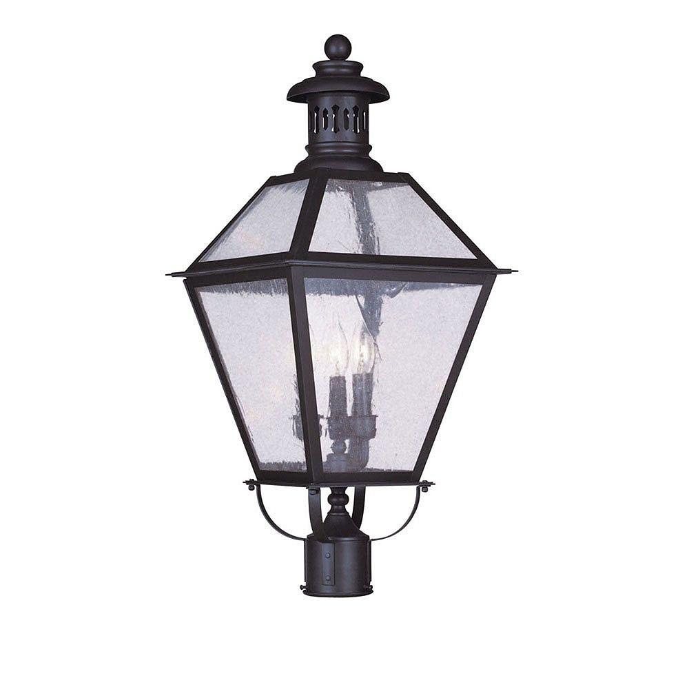 Illumine pilier monture lumière avec abat-jour de spécialité couleur en bronze