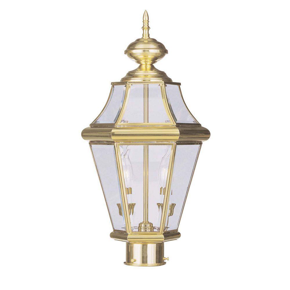 Illumine pilier monture lumière avec abat-jour clair couleur en laiton