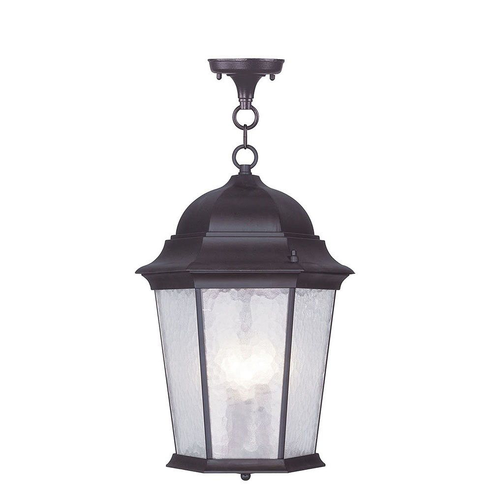 Illumine Providence 3 Light Bronze Incandescent Pendant with Clear Water Glass