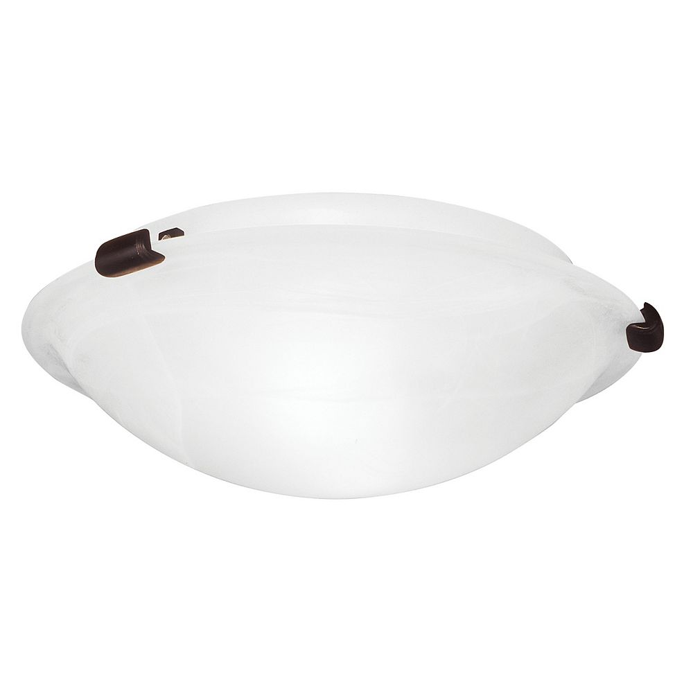 Illumine Plafonnier avec abat-jour blanc couleur en bronze