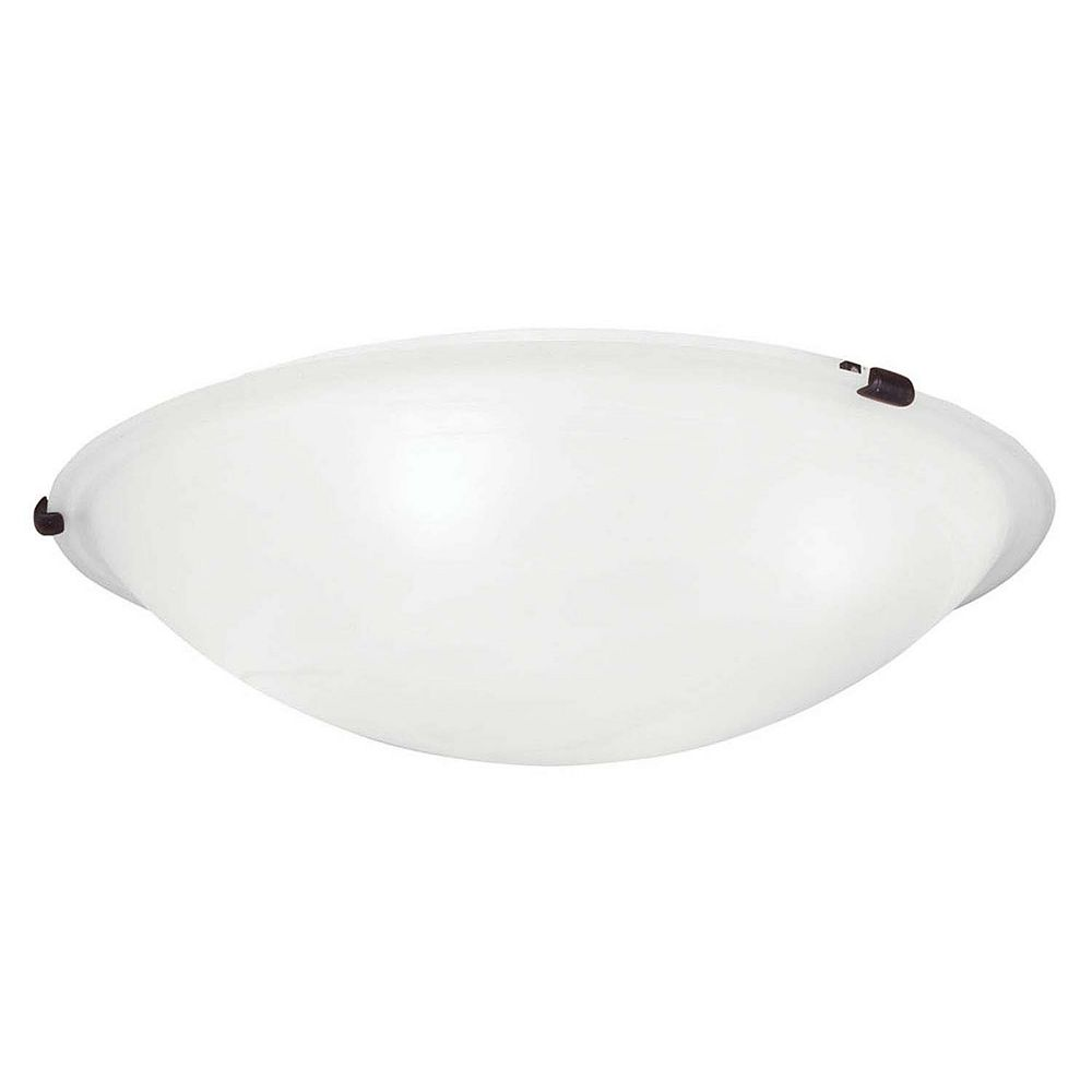 Illumine Providence 4 Light Bronze Incandescent Semi Flush Mountwith White Alabaster Glass