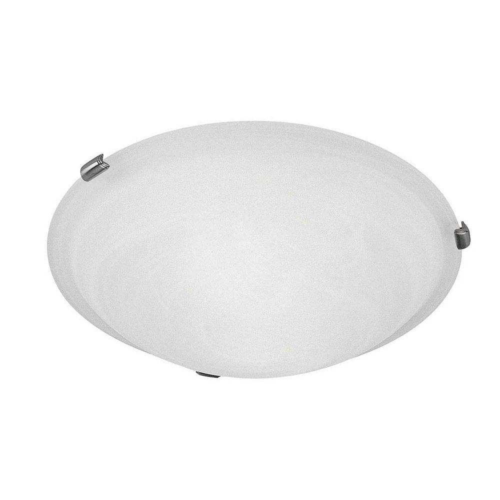 Illumine Providence 4 Light Brushed Nickel Incandescent Semi Flush Mountwith White Alabaster Glass