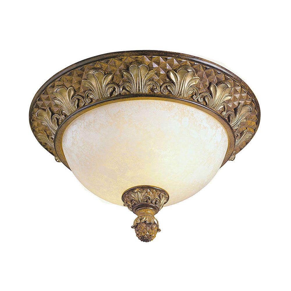 Illumine Plafonnier avec abat-jour de spécialité couleur en bronze
