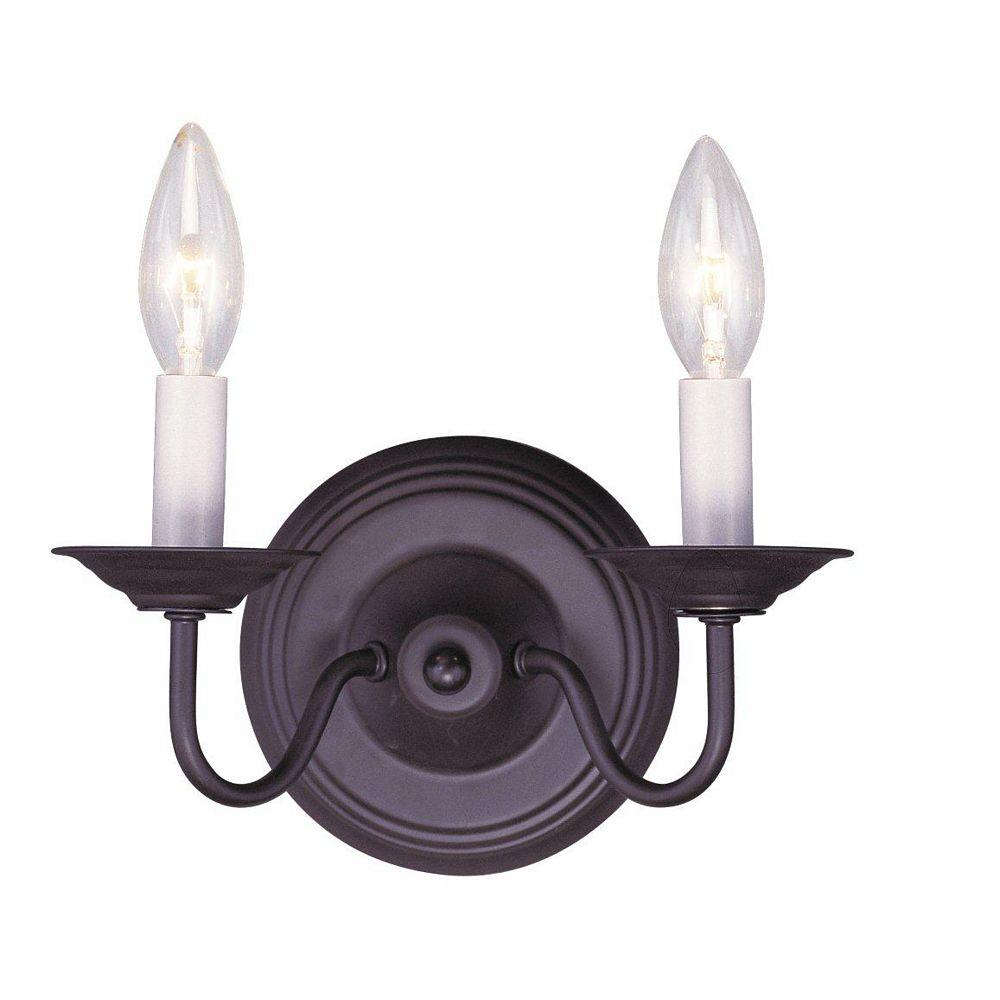Illumine lumière fixée au mur avec style couleur en bronze