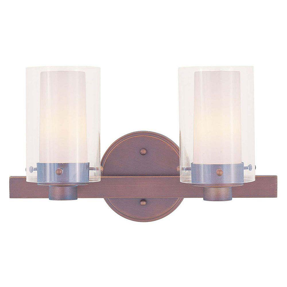 Illumine lumière fixée au mur avec abat-jour clair couleur en bronze