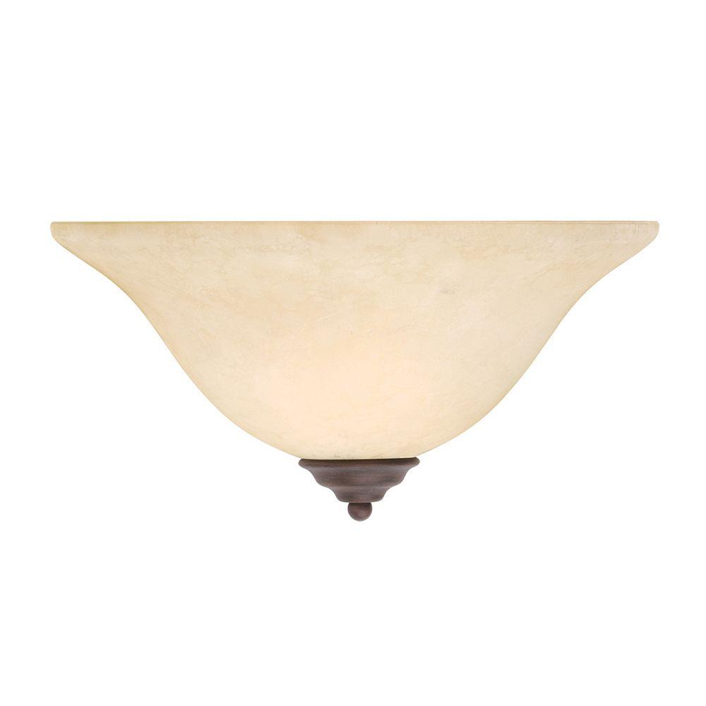 Illumine lumière fixée au mur avec abat-jour de spécialité couleur en bronze