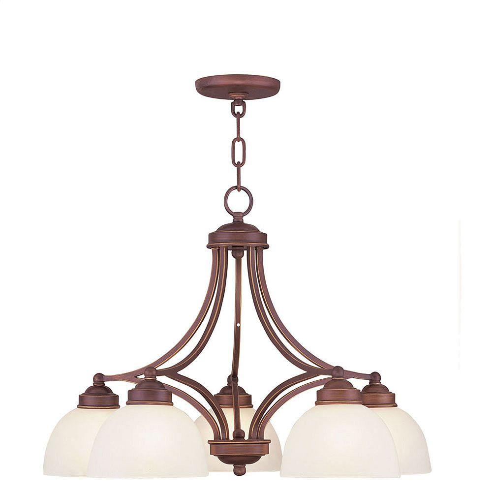 Illumine lumière accrochante avec abat-jour de spécialité couleur en bronze