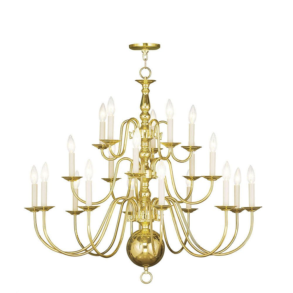 Illumine Providence 20 Light Bright Brass Incandescent Chandelier