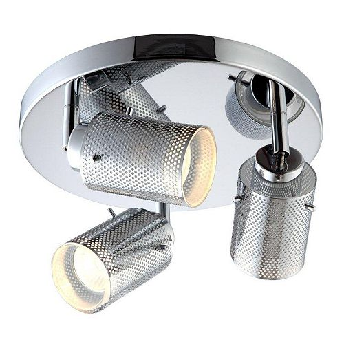 Lincoln 3-Light Ceiling/Wall Light Fixture in Chrome