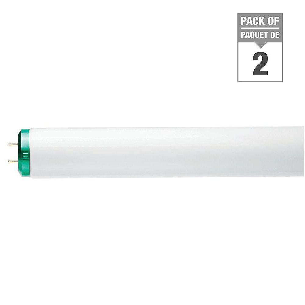 Philips 40W T12 48-inch Cool White Supreme/Alto (4100K)Fluorescent Light Bulb (2-Pack)