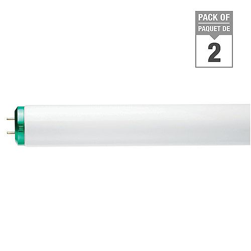 40W T12 48-inch Cool White Supreme/Alto (4100K)Fluorescent Light Bulb (2-Pack)