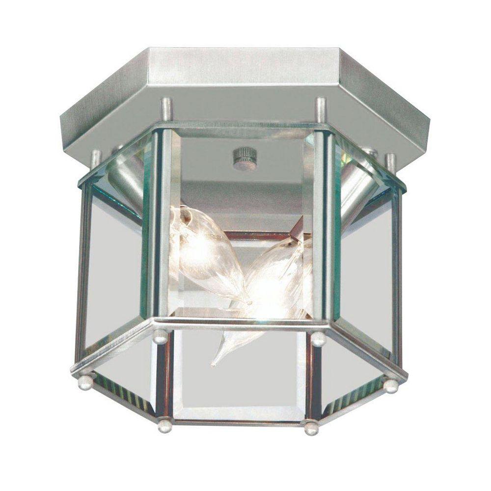 Illumine Plafonnier avec abat-jour clair couleur en argent