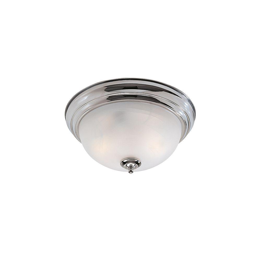 Illumine Plafonnier avec abat-jour blanc couleur en argent