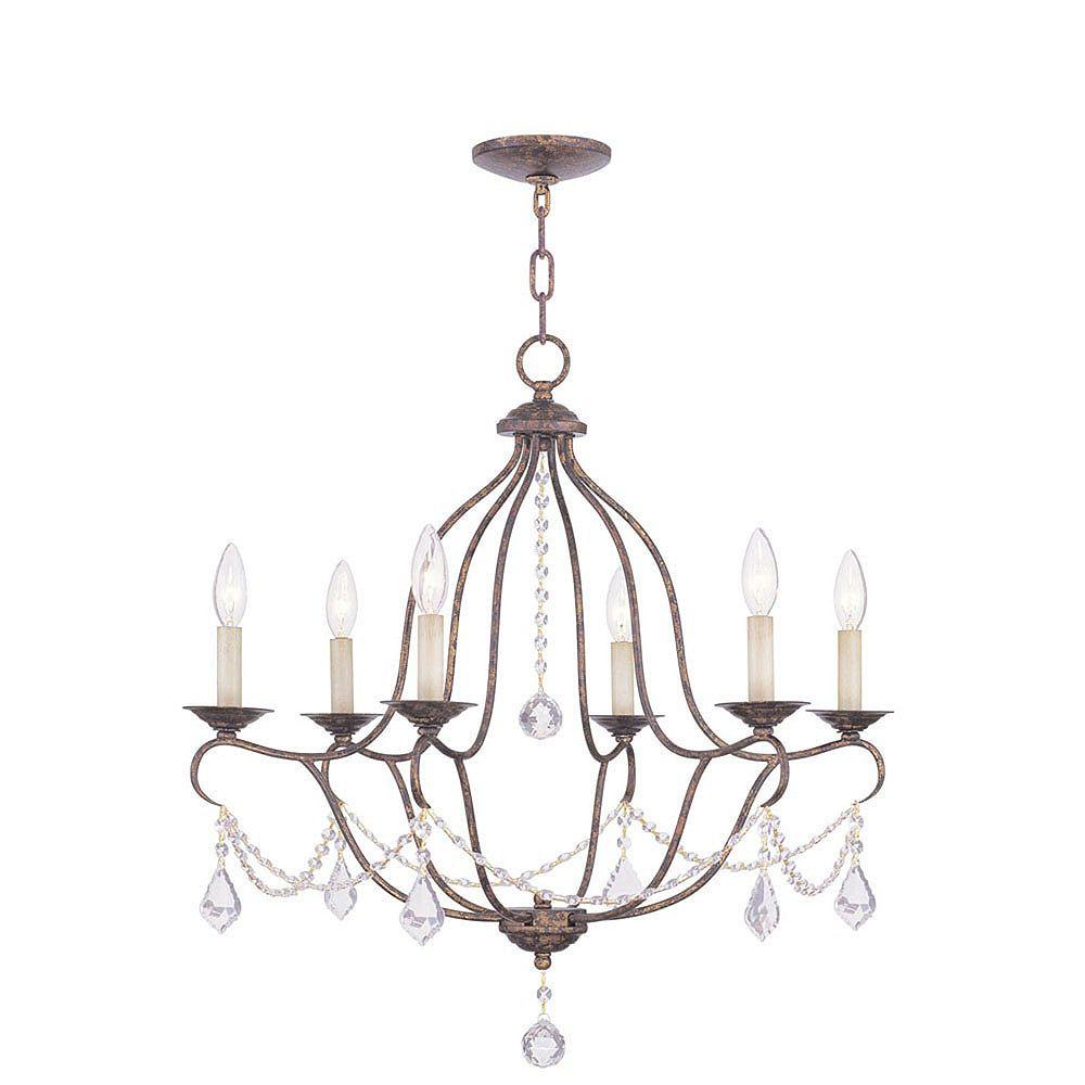 Illumine Providence 6-Light Venetian Gold Chandelier