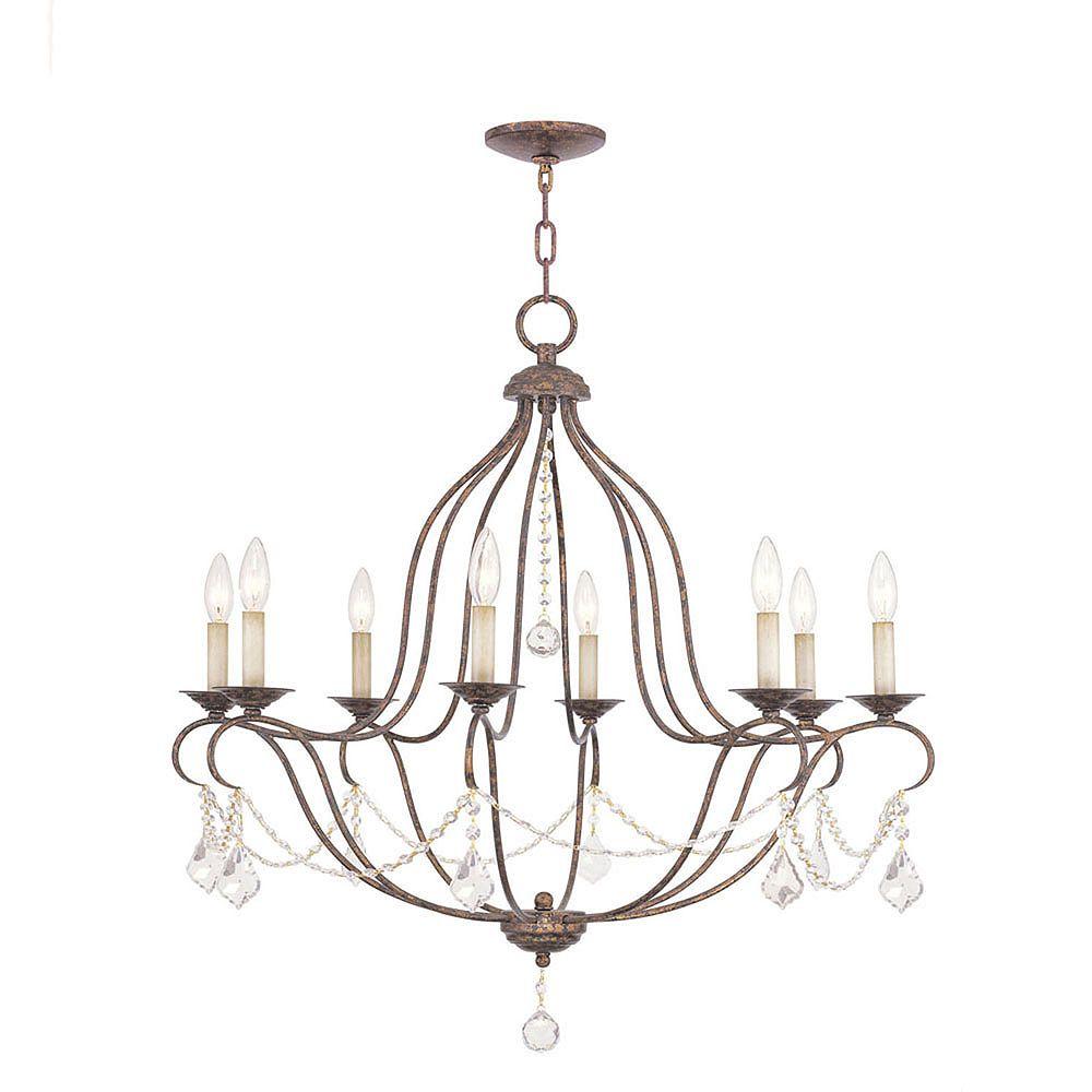 Illumine Providence 8-Light Venetian Gold Chandelier