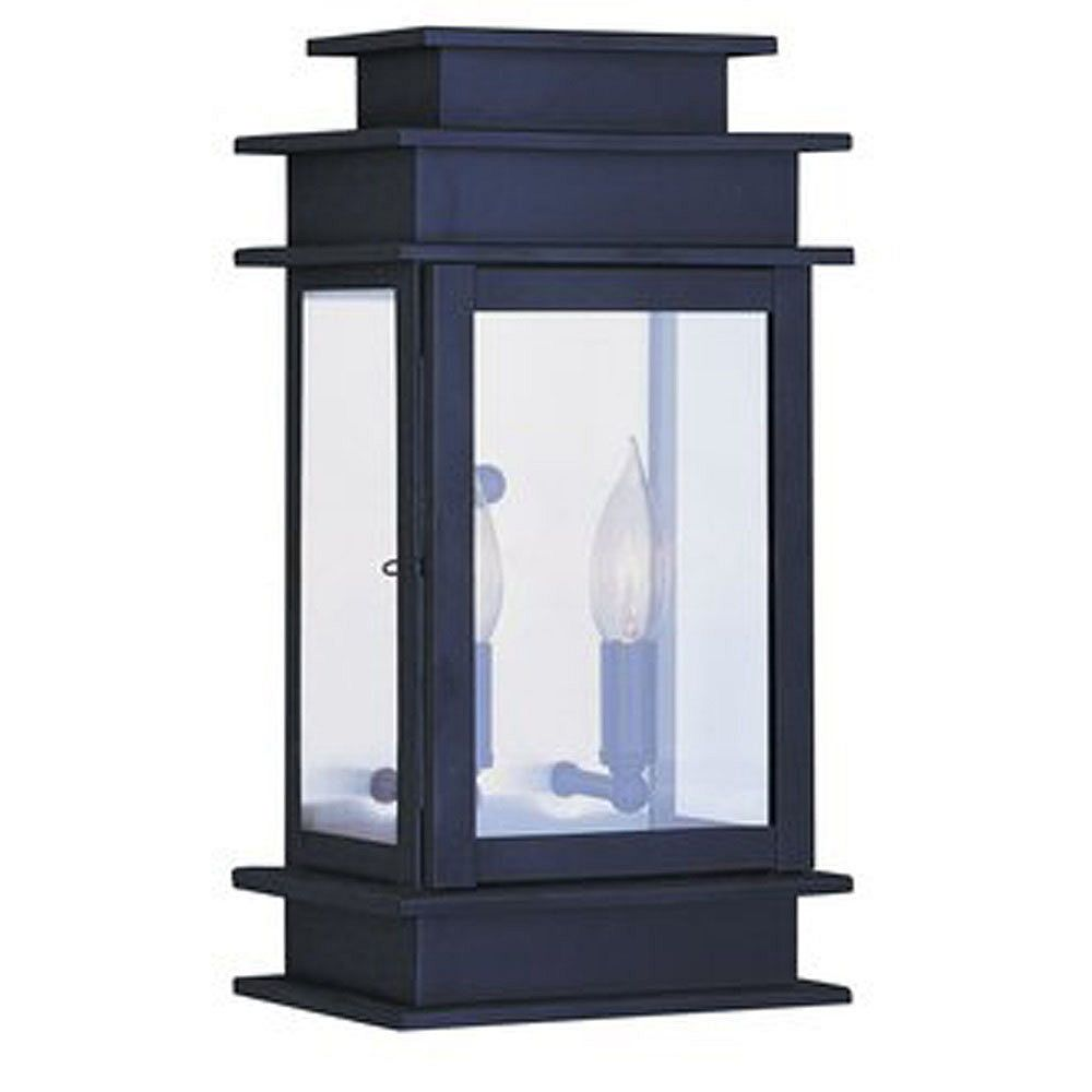 Illumine Providence 2 Light Bronze Incandescent Wall Lantern with Clear Glass