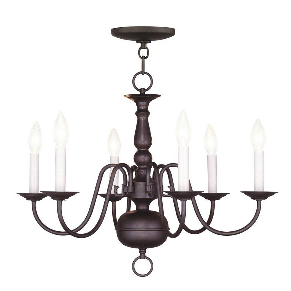 Illumine Providence 6 Light Bronze Incandescent Chandelier