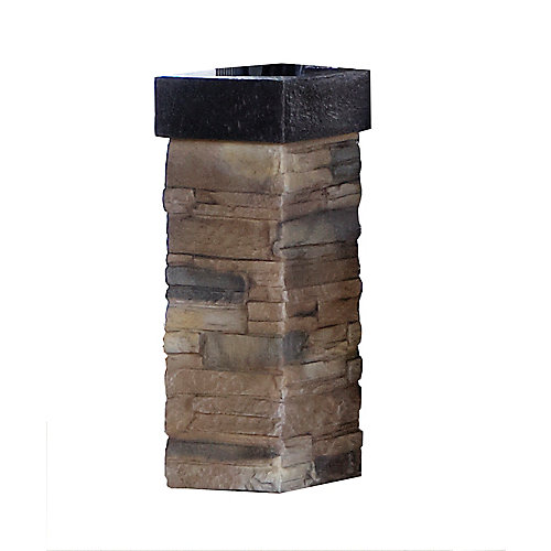 Bellini Sun Shelter Decorative Posts in Sand (4-Pack)