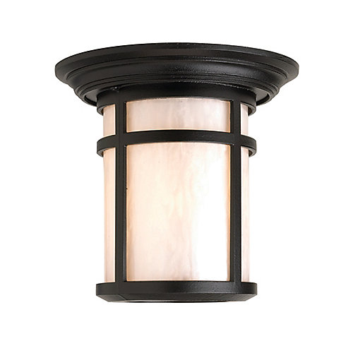 Aventis Series, Black With Pearl Acrylic Diffuser, Ceiling Mount