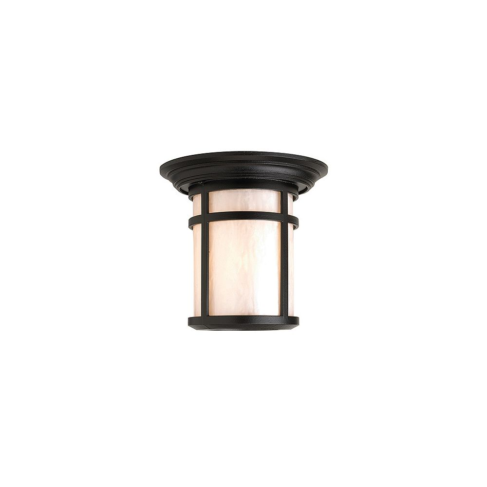 Snoc Aventis Series, Black With Pearl Acrylic Diffuser, Ceiling Mount