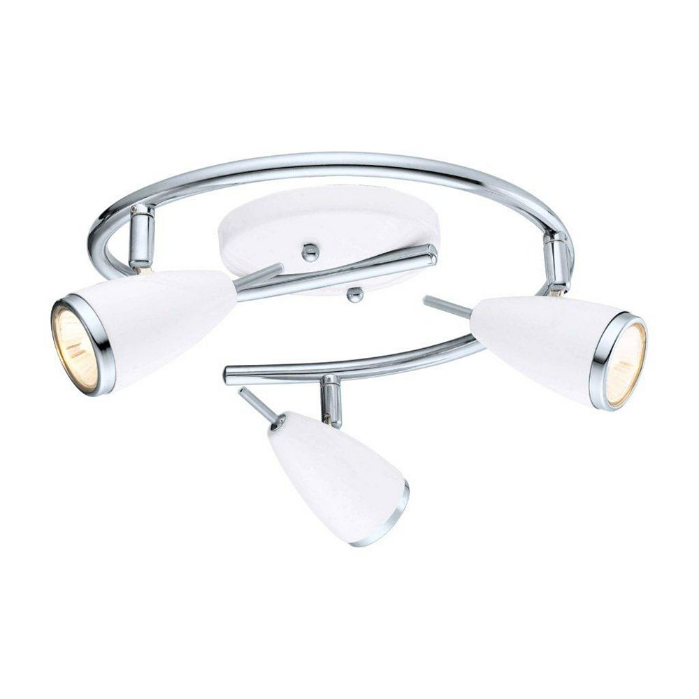 Riccio 12-Light Ceiling Light Fixture in Chrome with High Gloss White Shades