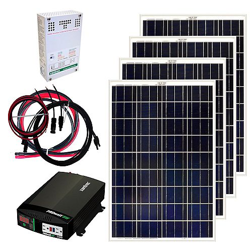 Grape Solar 400W Off-Grid Solar Panel Kit