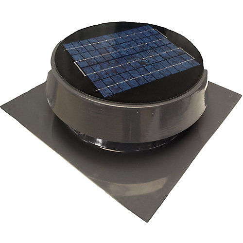 Solar Attic Fan, Roof Mount 20 Watt, Gray
