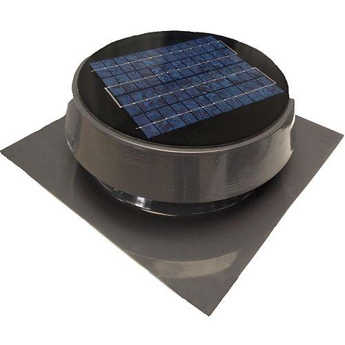 Solar Attic Fan, Roof Mount 20 Watt, Gray