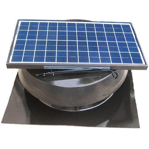 Ventilateur Solaire De Grenier, 25 Watts, Gris