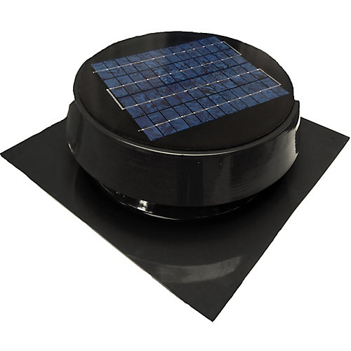 Solar Attic Fan, Roof Mount 20 Watt, Black