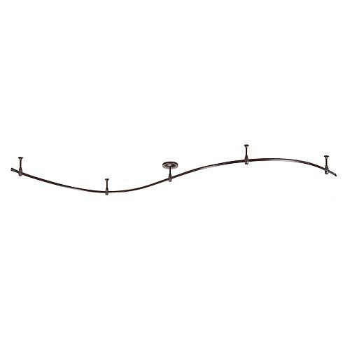 Hampton Bay 10 Feet Bronze Flex Track Starter Kit