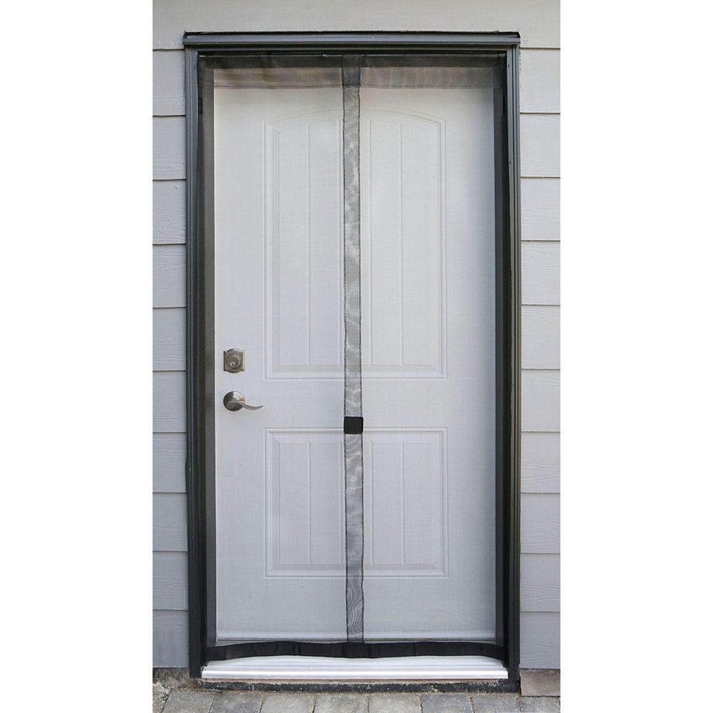 Everbilt 38-inch W x 80-inch H Fiberglass Walk Through Insect Screen Door in Black