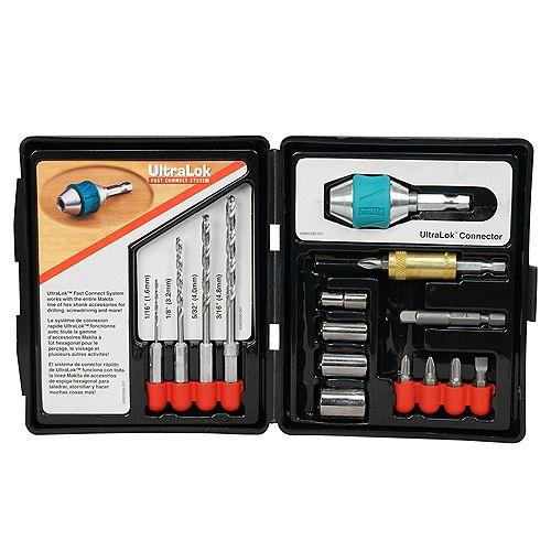 15-Piece Ultra Lock Drill Set