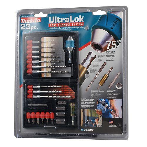 23-Piece Ultra Lock Drill Set