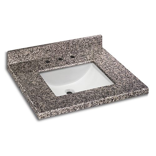 31 Inch x 22 Inch Sircolo Granite Vanity Top with Trough Bowl