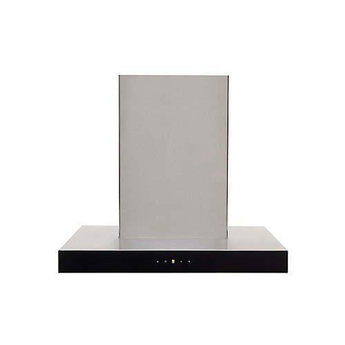 24-inch W, 600 CFM Designer Wall Mount Range Hood in Stainless Steel