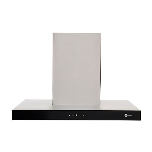30-inch W 600 CFM Range Hood in Stainless Steel/Black Glass