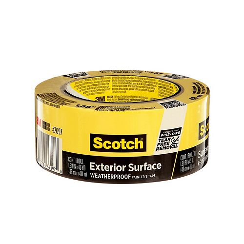 Exterior Surface Painter's Tape, 2097-48EC-XS, 1.88 in x 45 yd (48 mm x 41.1 m)